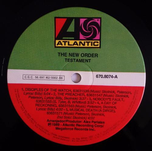 lp testament - the new order - br - 1989 - impecável