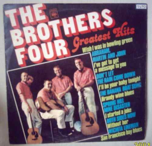 lp the brothers four greatest hits 1978 cbs