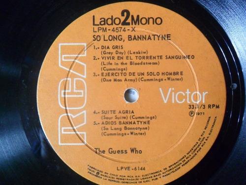 lp the guess who so long, bannatyne