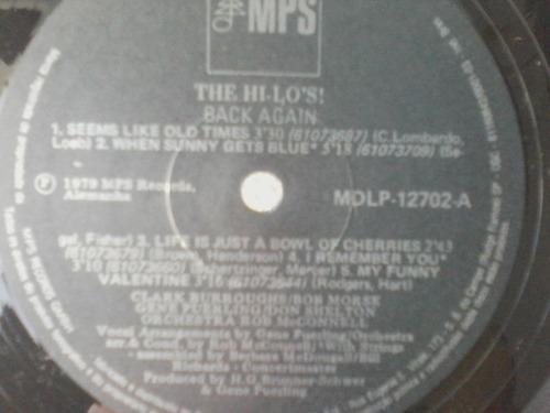 lp the hi-lo's ! back again - prat. novo