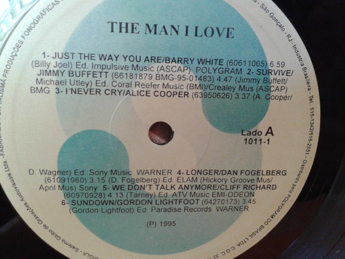 lp the man i love - 1995 som livre barry white alice cooper