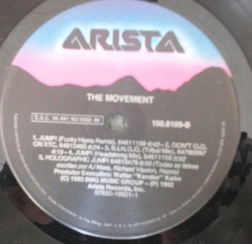 lp the movement jump! 1992 c/encarte zerado