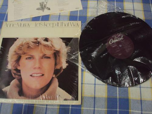 lp tocadiscos discos de vinil anne murray de coleccion!