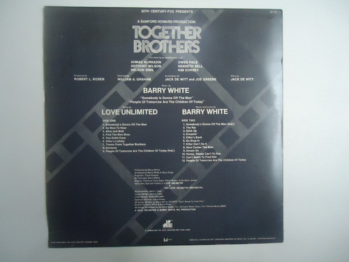 lp together brothers barry white