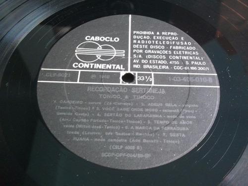 lp tonico e tinoco (recordação sertaneja)