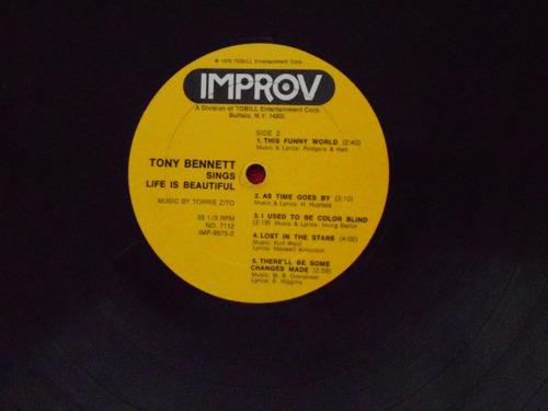lp tony bennet p/1975- sings ....life beautiful