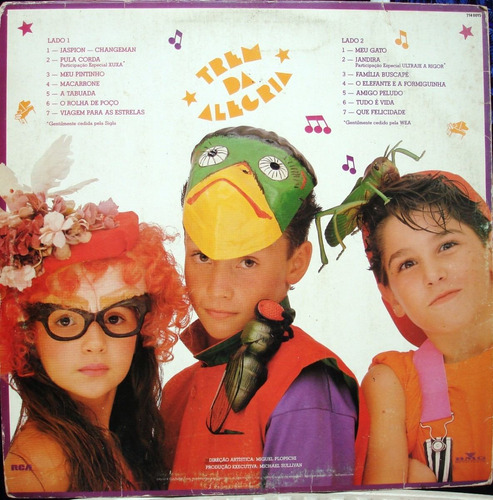 lp trem da alegria - jaspion - 1989 rca victor - estéreo