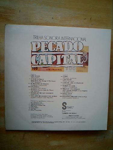 lp trilha internacional de novela  pecado capital vinil 1976