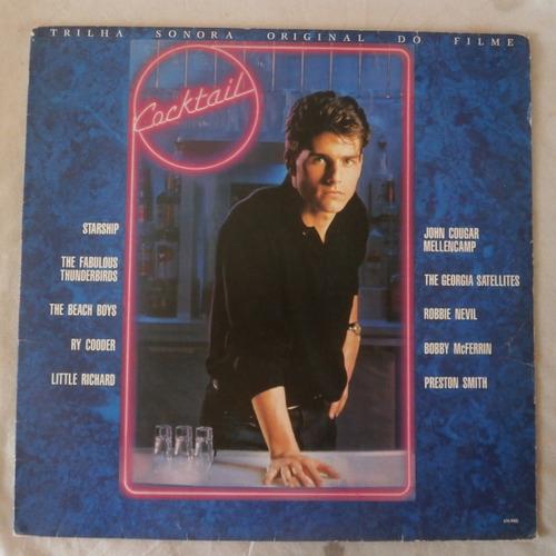 lp trilha sonora do filme cocktail 1989, disco de vinil