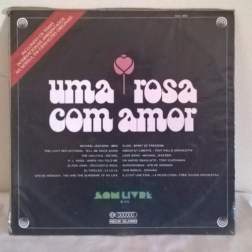 lp - trilha sonora internacional - novela uma rosa com amor