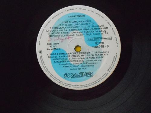 lp trilha sonora novela hipertensão p/1986- nacional