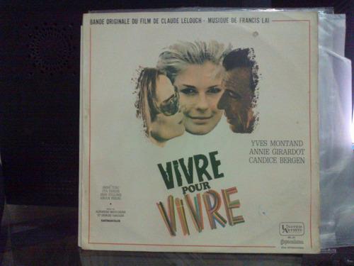 lp - trilha sonora - vivre pour vivre
