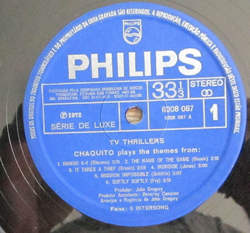 lp tv thrillers chaquito plays the themes from