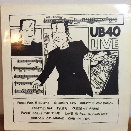 lp ub40 - live import uk 1ª prensagem 83 raro