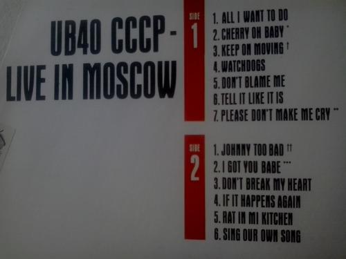 lp ub40 live in moscow cccp - otimo estado
