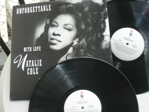 lp    unforgettable with love    natalie cole - 1991 - 2 lps
