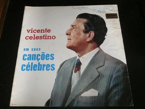 lp vicente celestino  - canções célebres, disco vinil, 1961