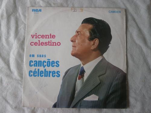 lp vicente celestino em suas canções célebres 1970, vinil