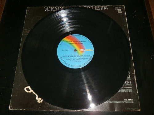 lp victor young & orchestra - pearls on velvet, vinil 1981