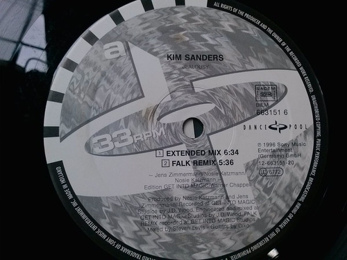 lp vini - kim sanders - jealousy - mix - importado germany