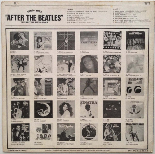 lp vinil - after the beatles - the british lions group