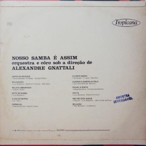 lp vinil - alexandre gnattali - nosso samba é assim - 1975