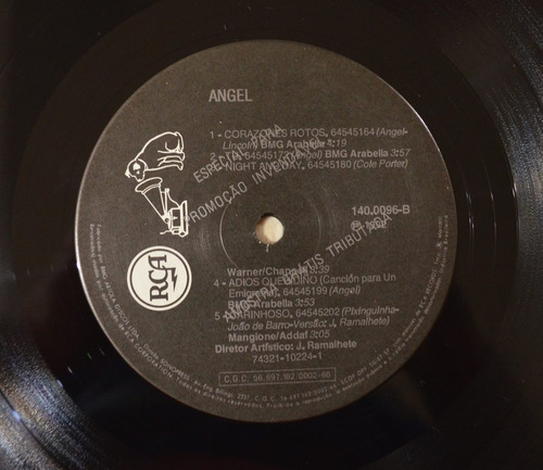 lp vinil - angel