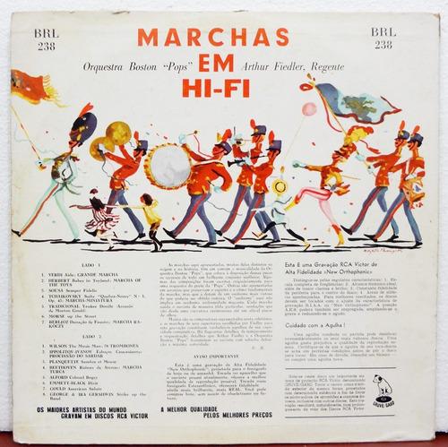 lp vinil - arthur fiedler e boston pops - marchas em hi-fi