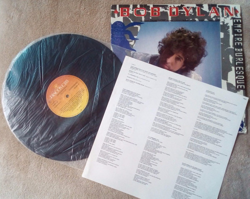 lp vinil bob dylan - empire burlesque