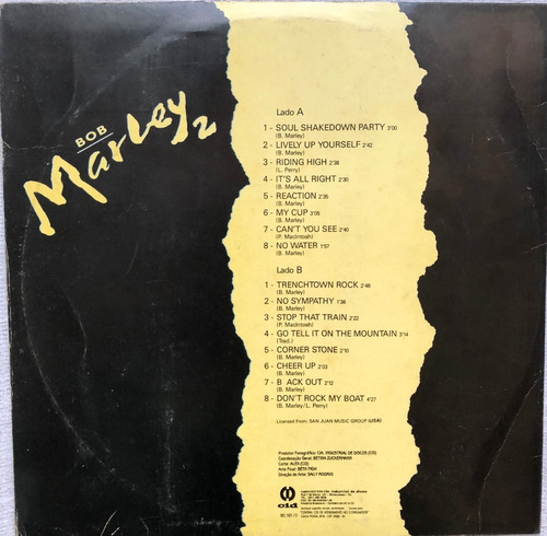 lp vinil bob marley 2 - soul shakedownparty ano 1993