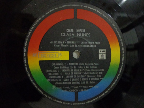 lp vinil-clara nunes-clara morena-emi-1983