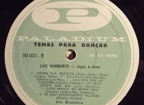 lp / vinil clássico: luiz humberto - temas para dançar
