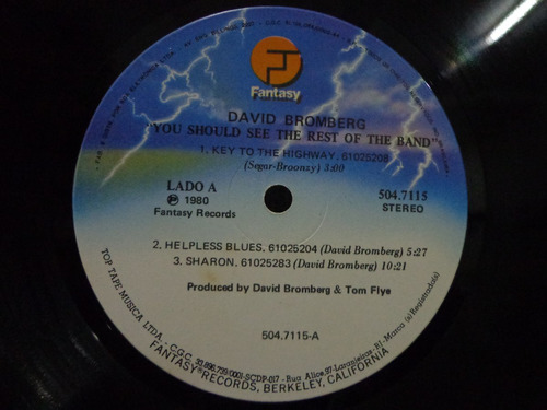 lp vinil-david bromberg band-you should see....-fantasy-1980
