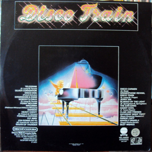 lp vinil - disco train - coletânea - 1977 - lp zerado