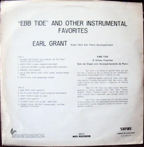 lp vinil - earl grant - ebb tide - 1974