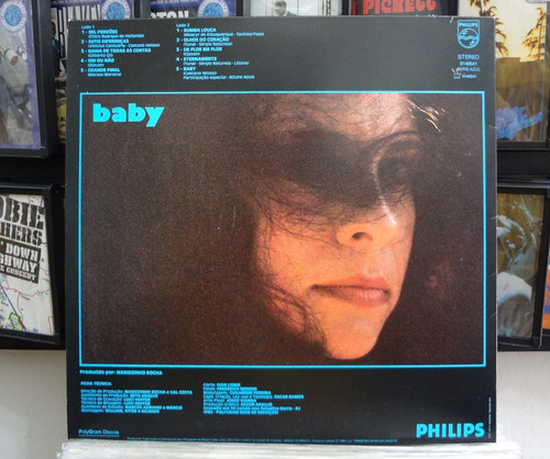 lp vinil - gal costa - baby - 1983