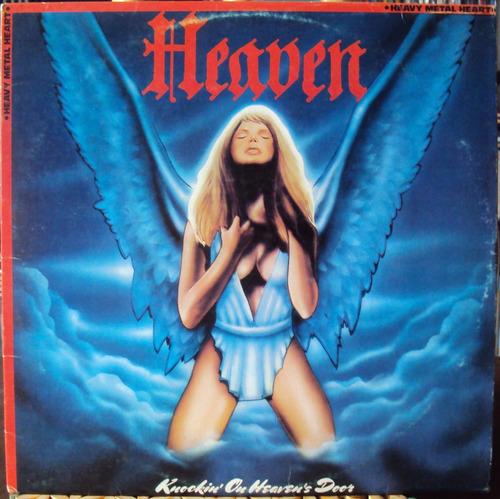 lp vinil - heaven - knockin' on heaven's door - 1985