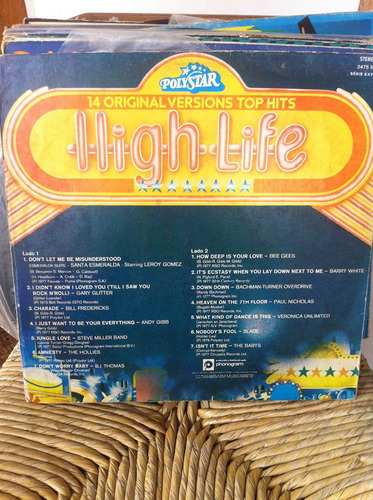 lp vinil high life 14 original versions top hits - 1978