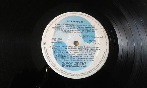 lp vinil hit parede' 86 usado pop internacional 1986 origina