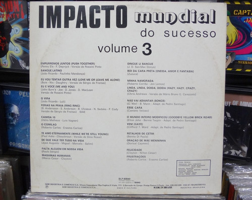 lp vinil - impacto mundial do sucesso - vol. 3 - 1974