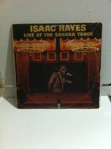lp vinil isaac hayes - live at the sahara tahoe