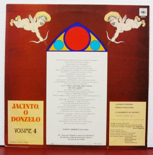 lp vinil - jacinto o donzelo vol. 4 - o casamento do jacinto