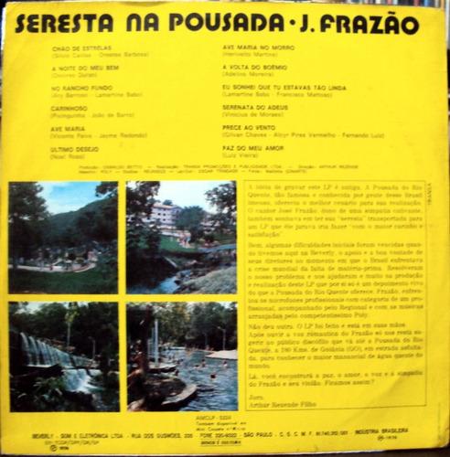 lp vinil - josé frazão - seresta na pousada - 1974