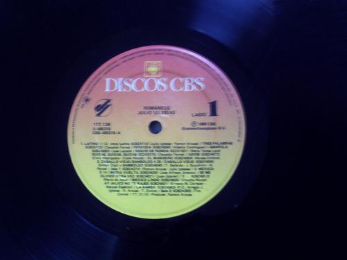 lp vinil julio iglesias - romances cbs 1989 com encarte