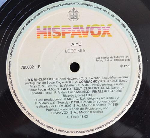 lp vinil - loco mia - taiyo - 1990