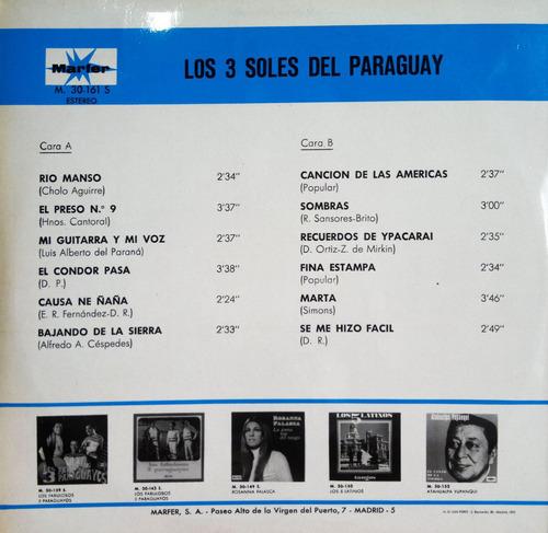 lp vinil - los 3 soles del paraguay