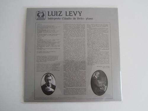 lp vinil - luiz levy - intérprete : cláudio de brito - piano