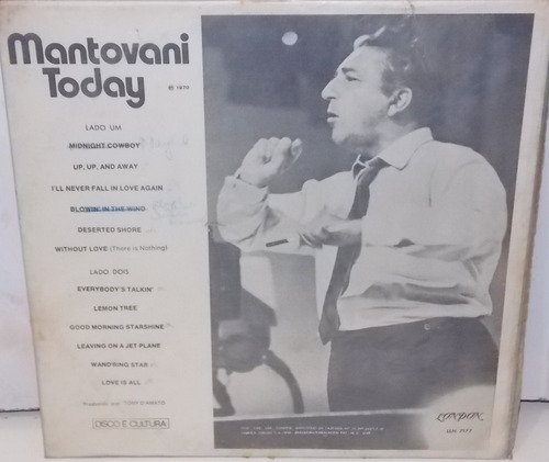 lp  vinil mantovani today 1970