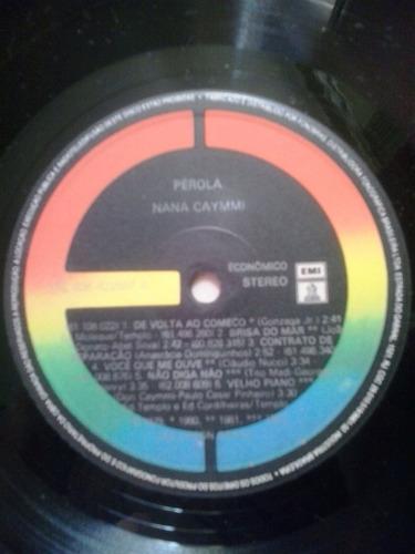 lp vinil nana caymmi pérola 1984