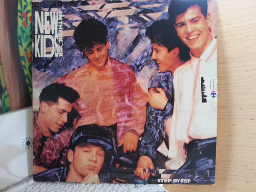 lp vinil - new kids on the block - step by step raro